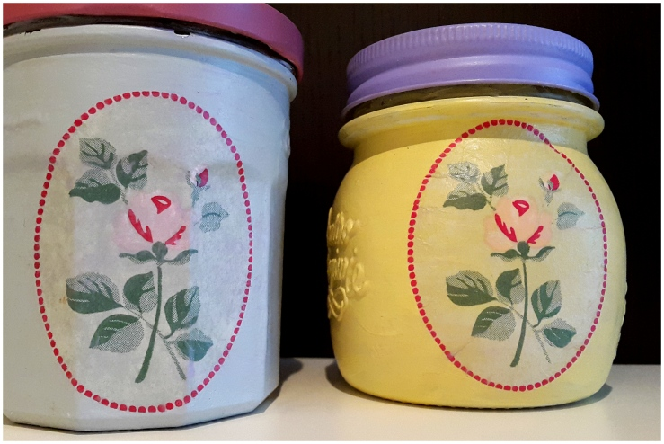 decoupage kitchen jars1