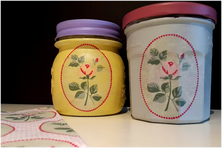 decoupage kitchen jars8