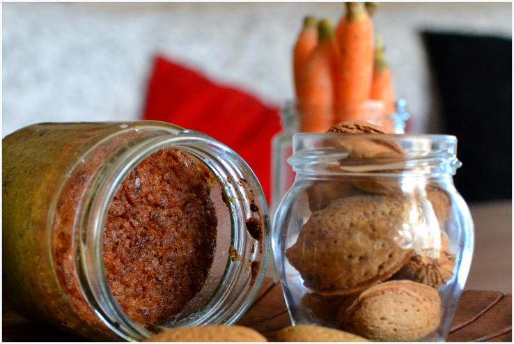 carrot and almond cake in a jar5
