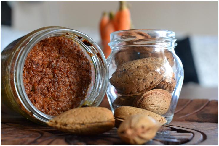 carrot and almond cake in a jar6