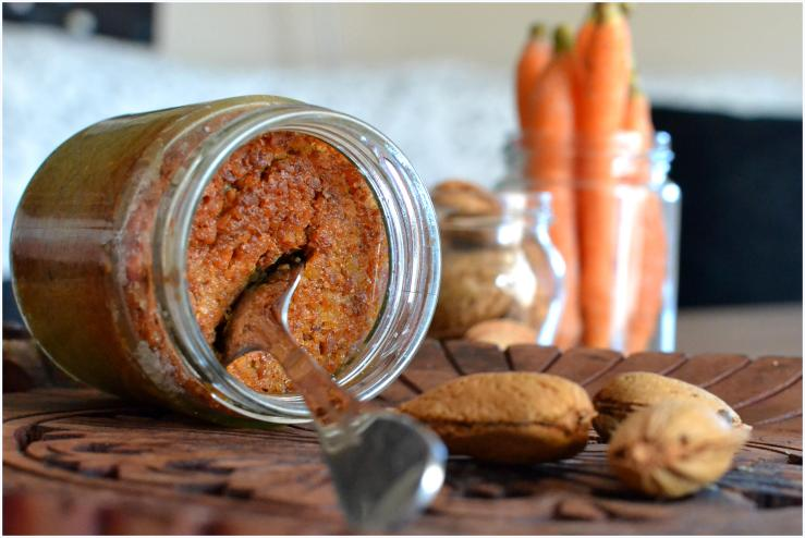 carrot and almond cake in a jar7
