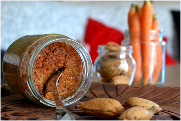 carrot and almond cake in a jar8