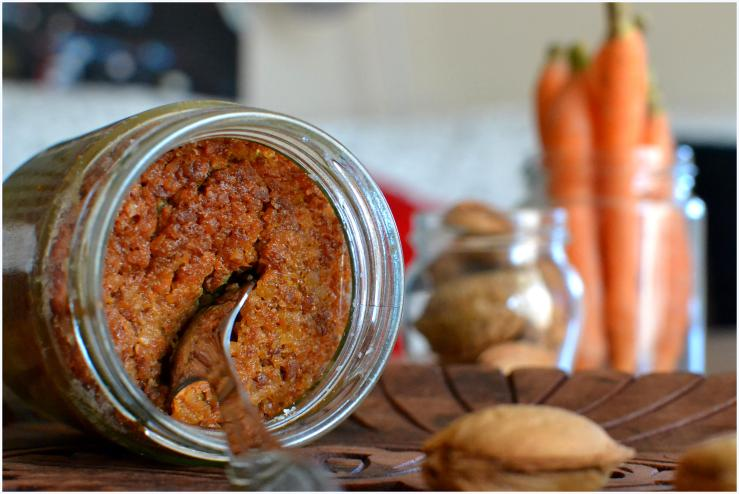 carrot and almond cake in a jar9