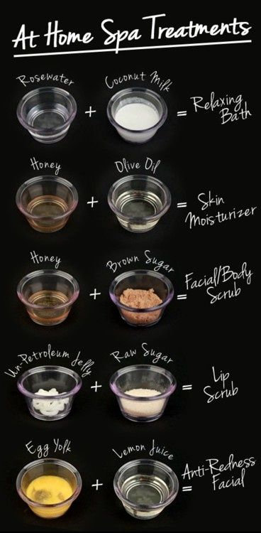 at home spa treatments
