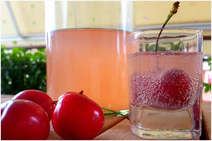 cherry flavoured water kefir soda1