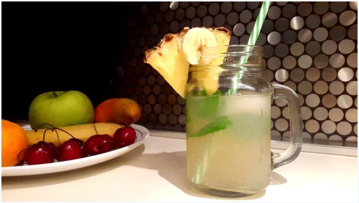 pineapple and banana flavoured water kefir5