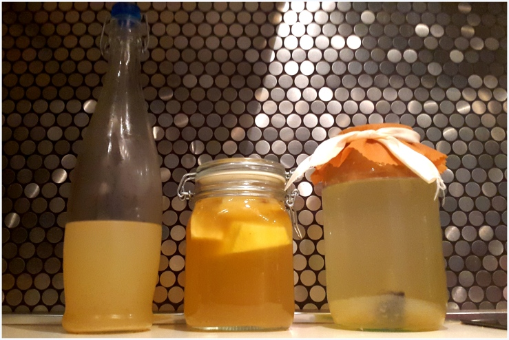 pineapple and banana flavoured water kefir9