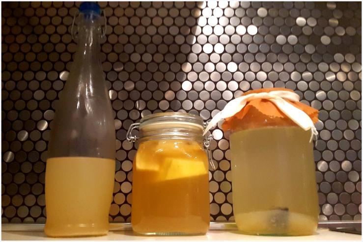 pineapple and banana flavoured water kefir9