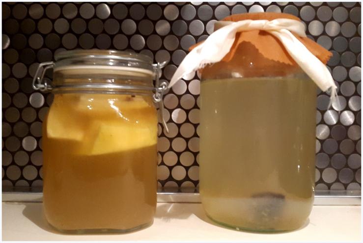 pineapple and banana flavoured water kefir91