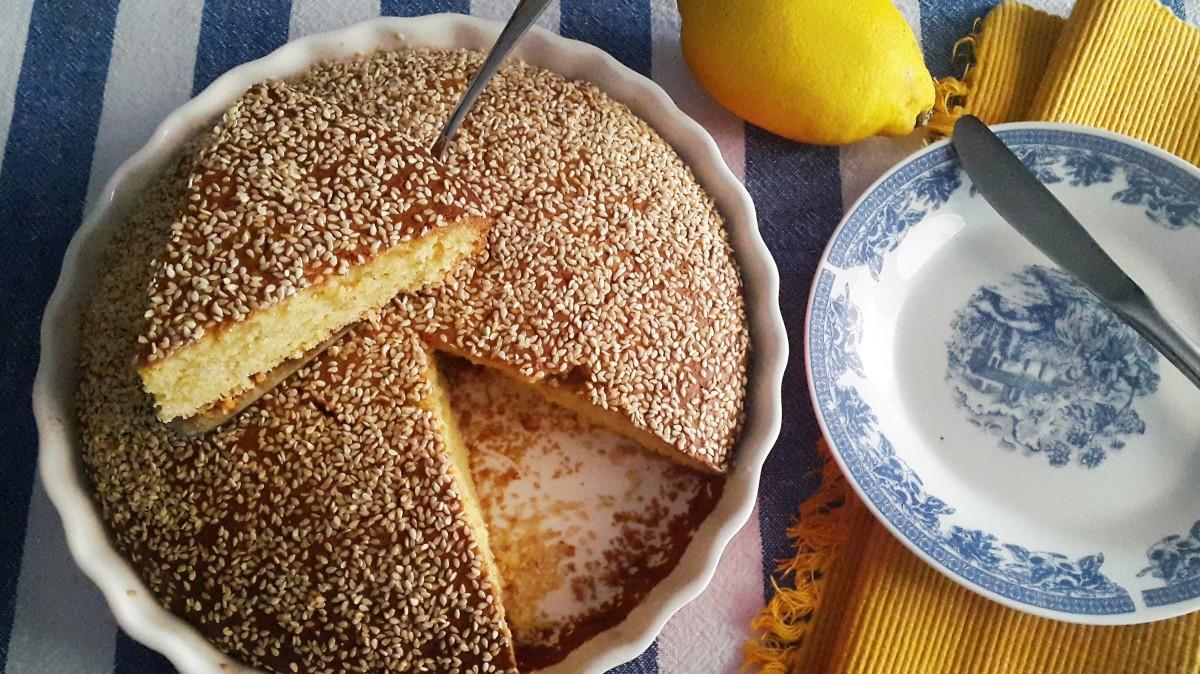 Lemon & Sesame Seed Cake