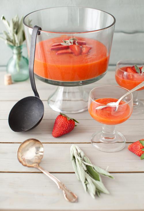 Papaya Strawberry Soup 4